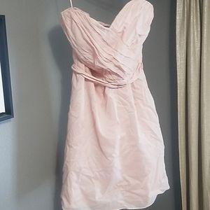 Express Blush Strapless Dress